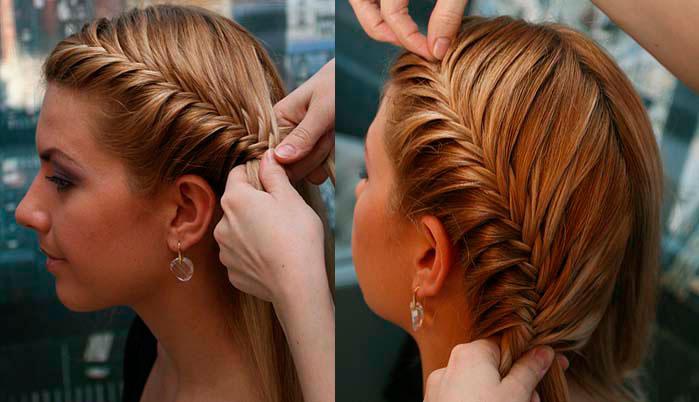 Прически на волосы средней длины с косичками