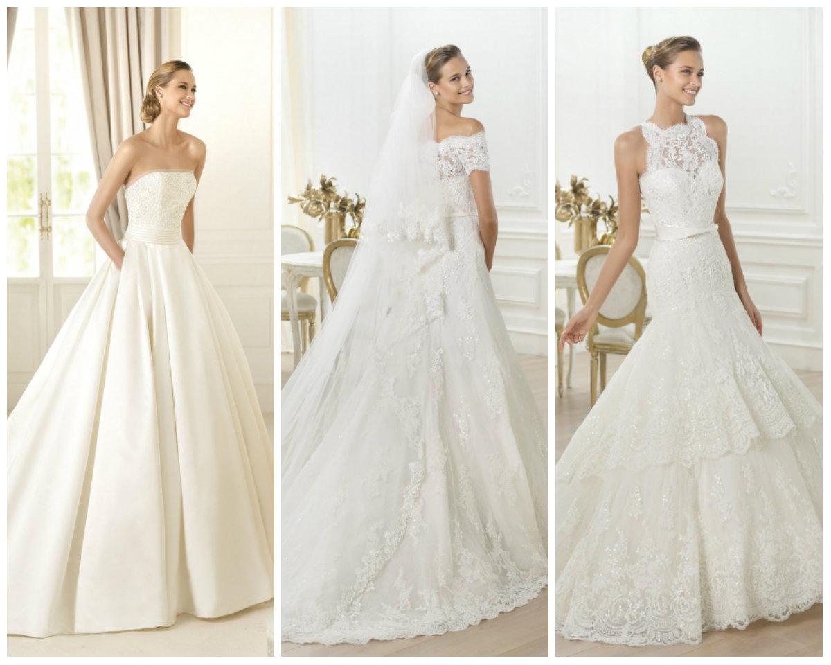 фото стильные свадебные платья